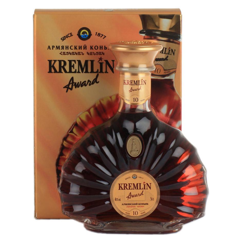 Коньяк Kremlin Award 10 лет 500 мл