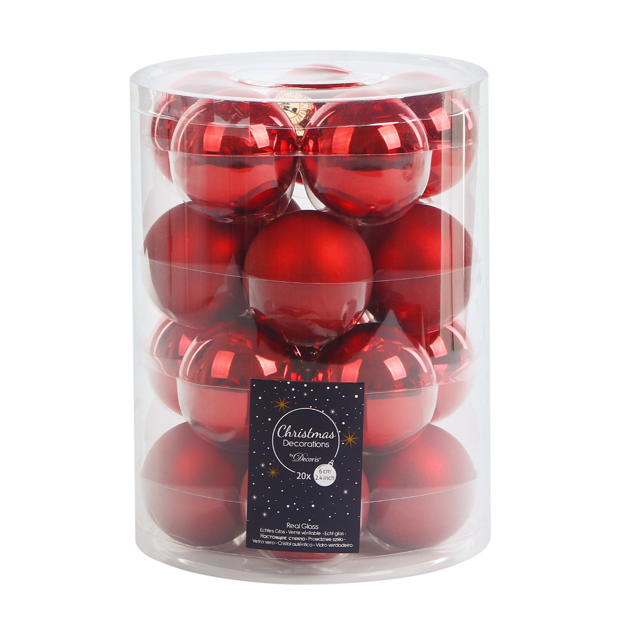 Набор шаров на елку Kaemingk 6 см 20шт красные