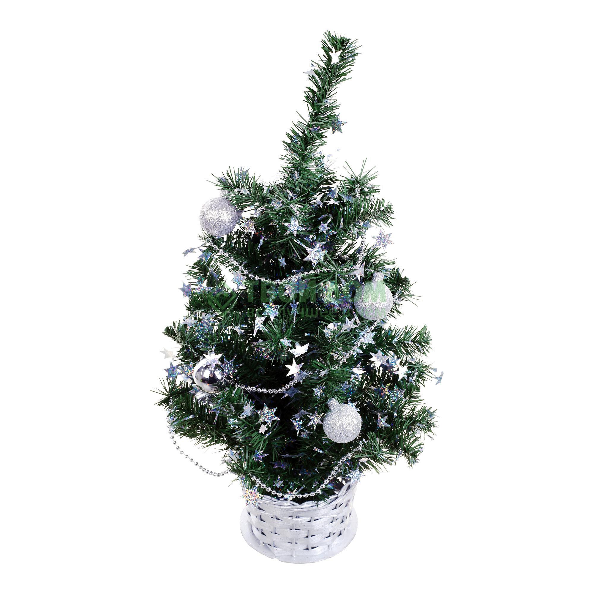 Ель искусственная Weiste украшенная шарами 45 см (5056)