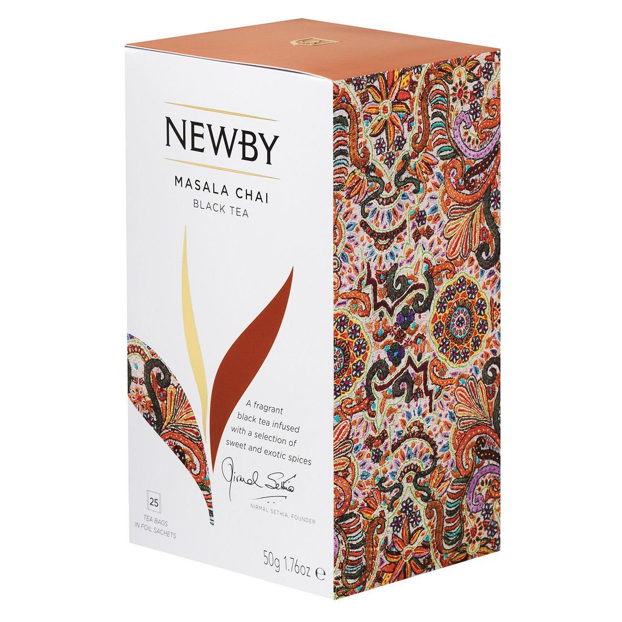 Чай черный Newby Masala Chai со специями 25 пакетиков