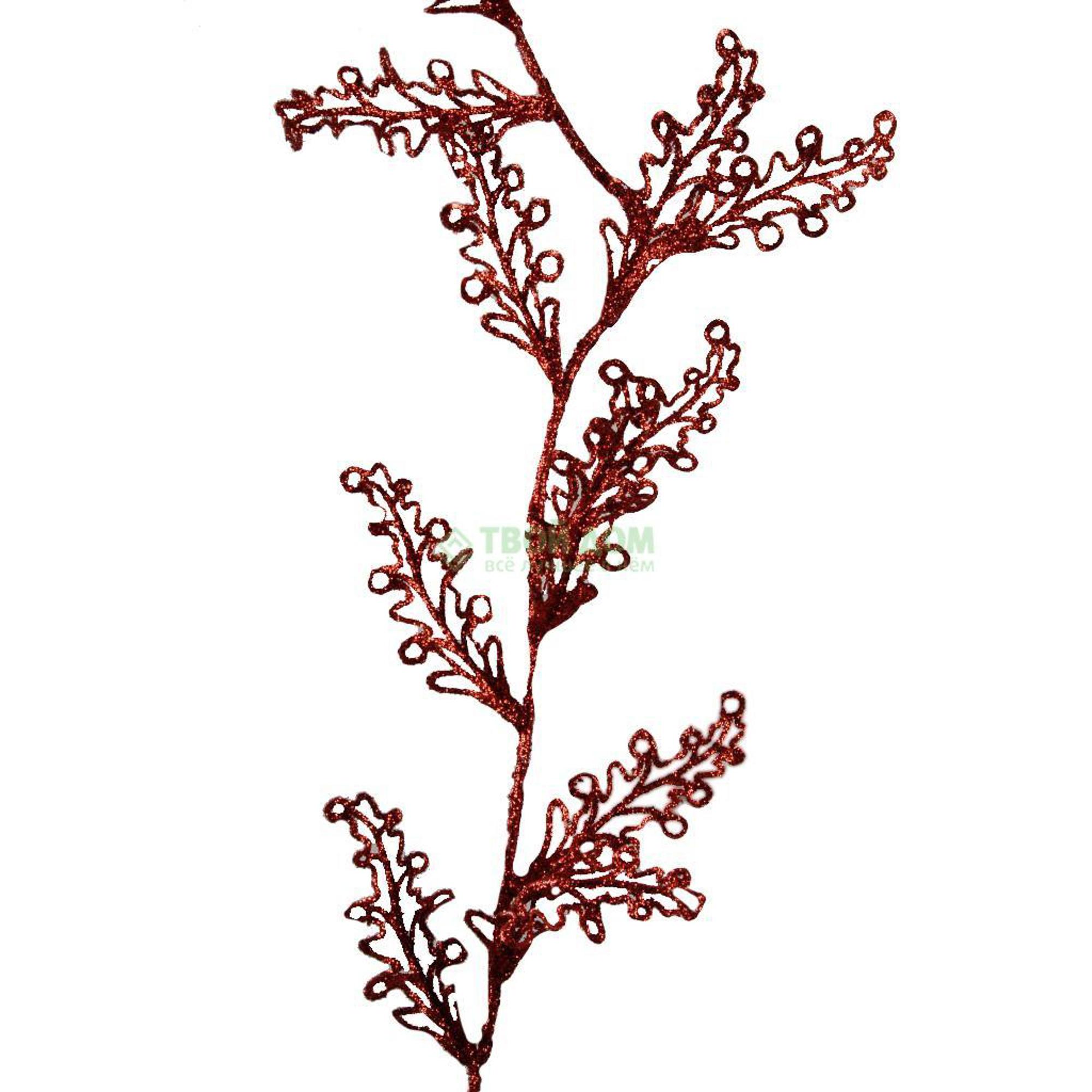 Гирлянда Kaeming Новогод листья 180см красная.