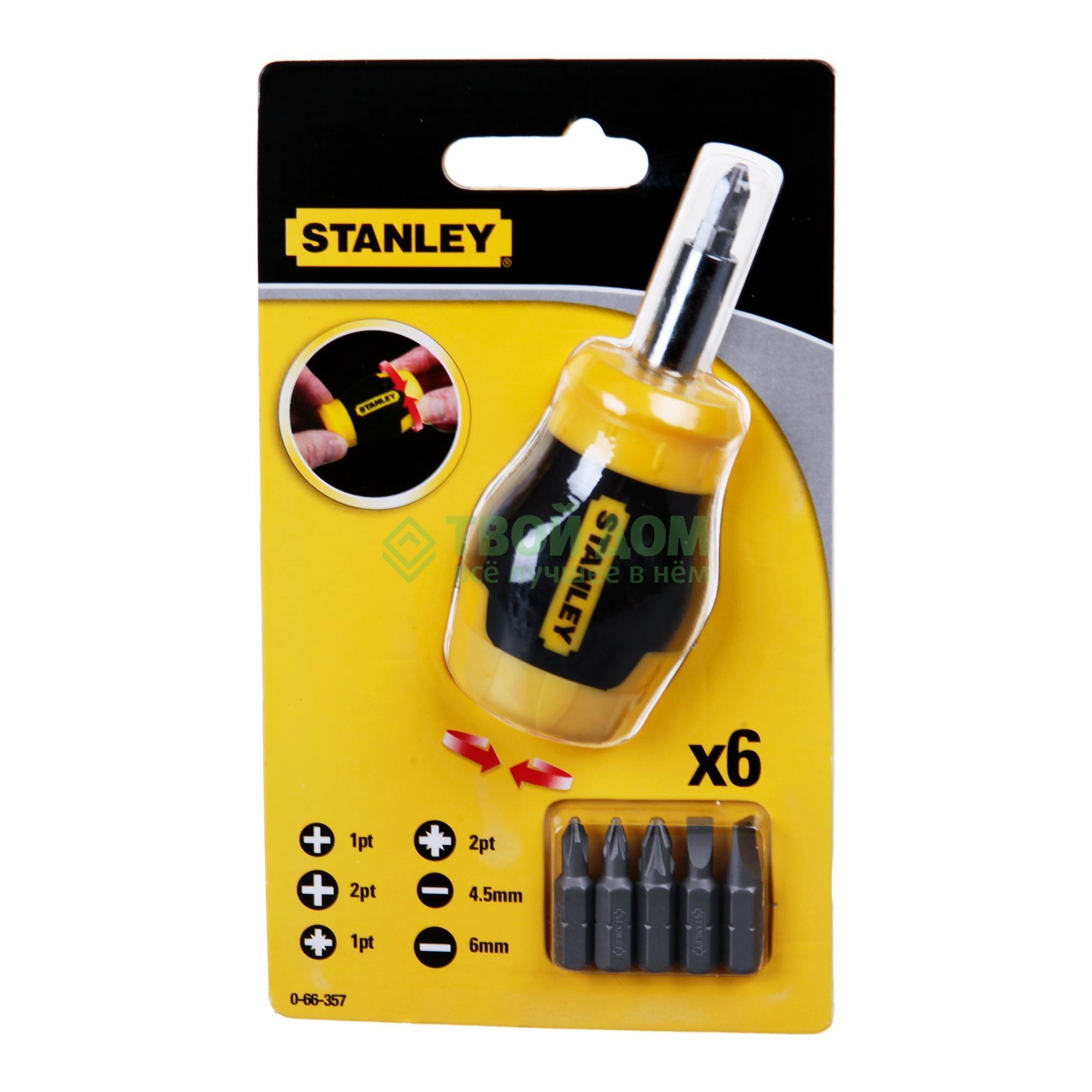 Отвертка с битами Stanley (0-66-357)