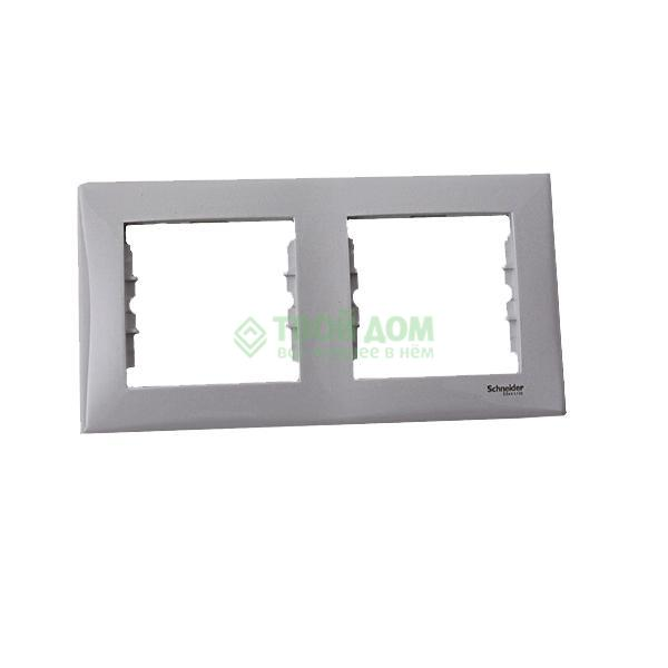 Накладная панель  Schneider Electric Рамка х2 горизонт.. бел. SDN5800321