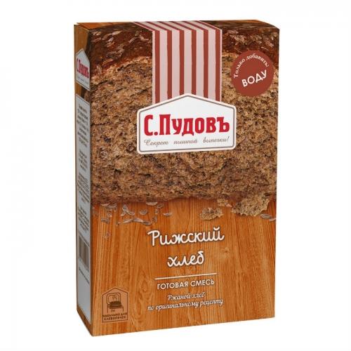 Хлебная смесь С.Пудовъ Рижский хлеб 500 г хлеб рижский хлеб цельнозерновой 300 г
