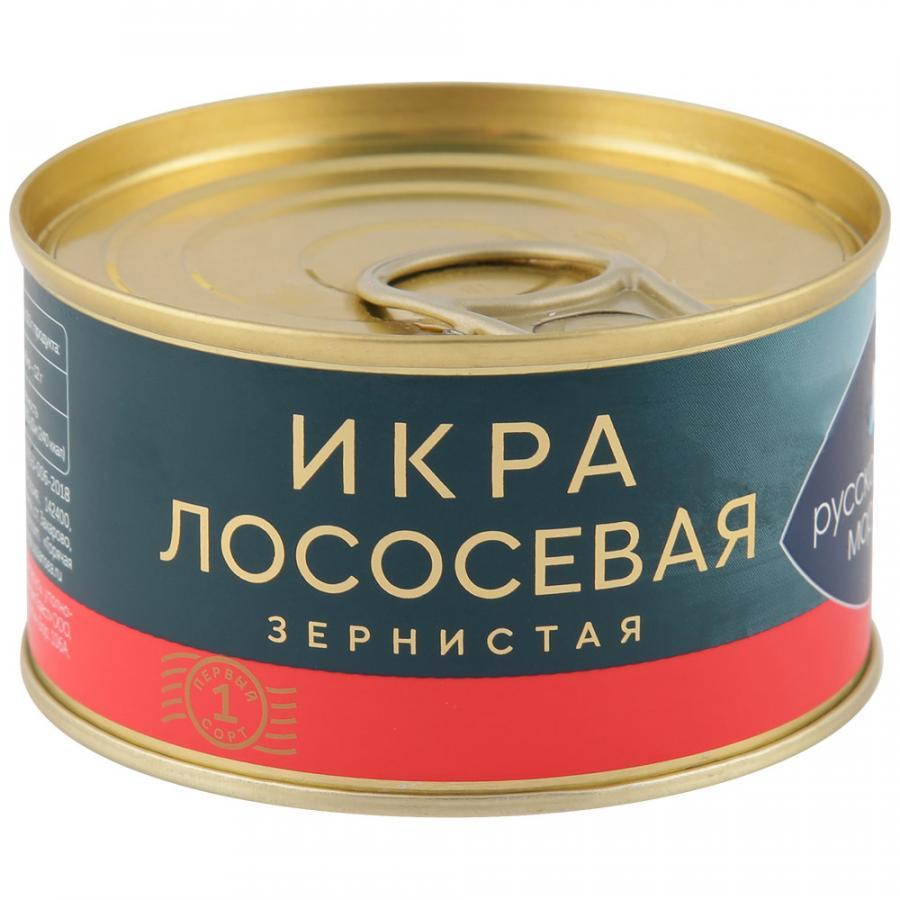 Икра лососевая Русское море зернистая соленая, 140 г