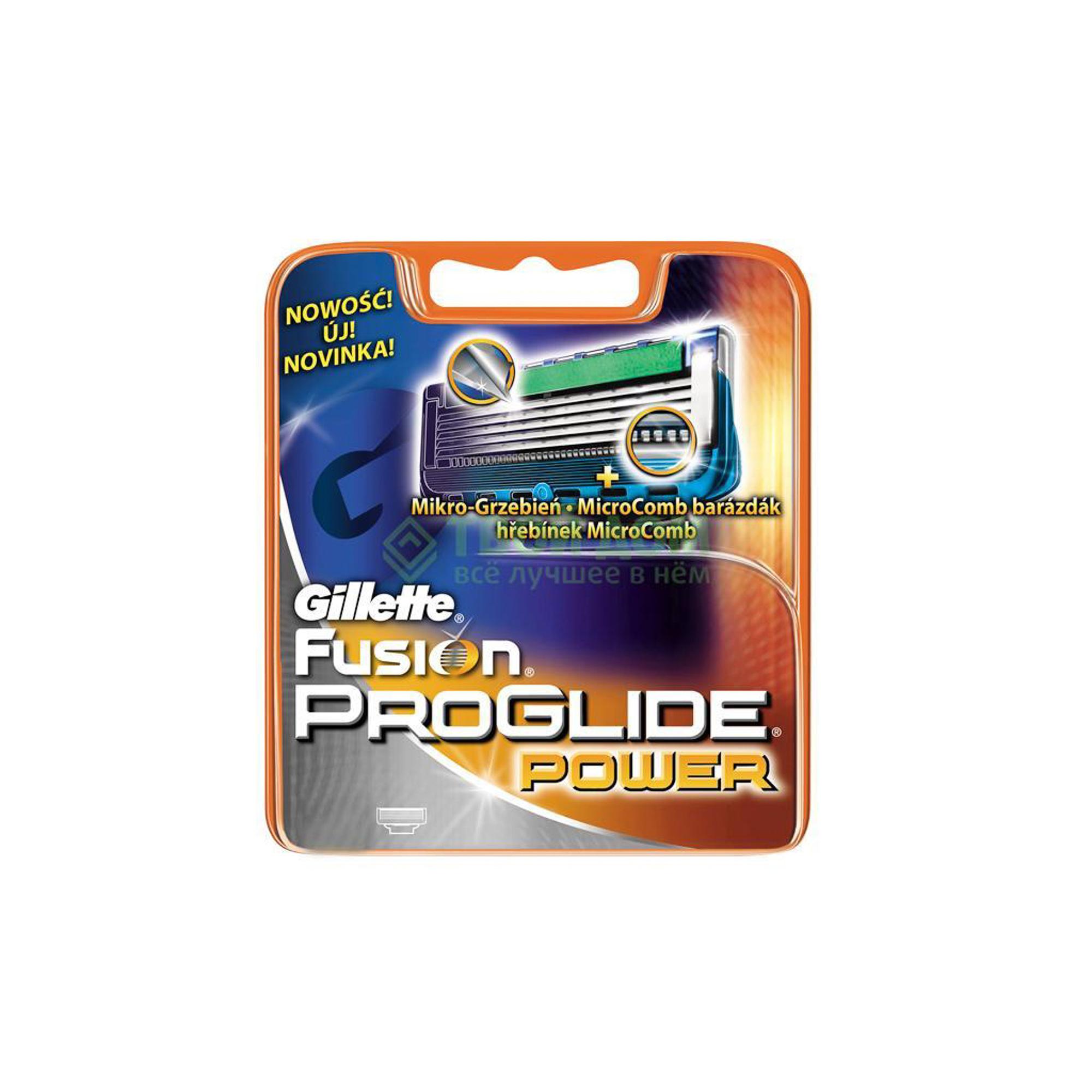 Кассеты для бритья Gillette Fusion ProGlide Power 4 шт