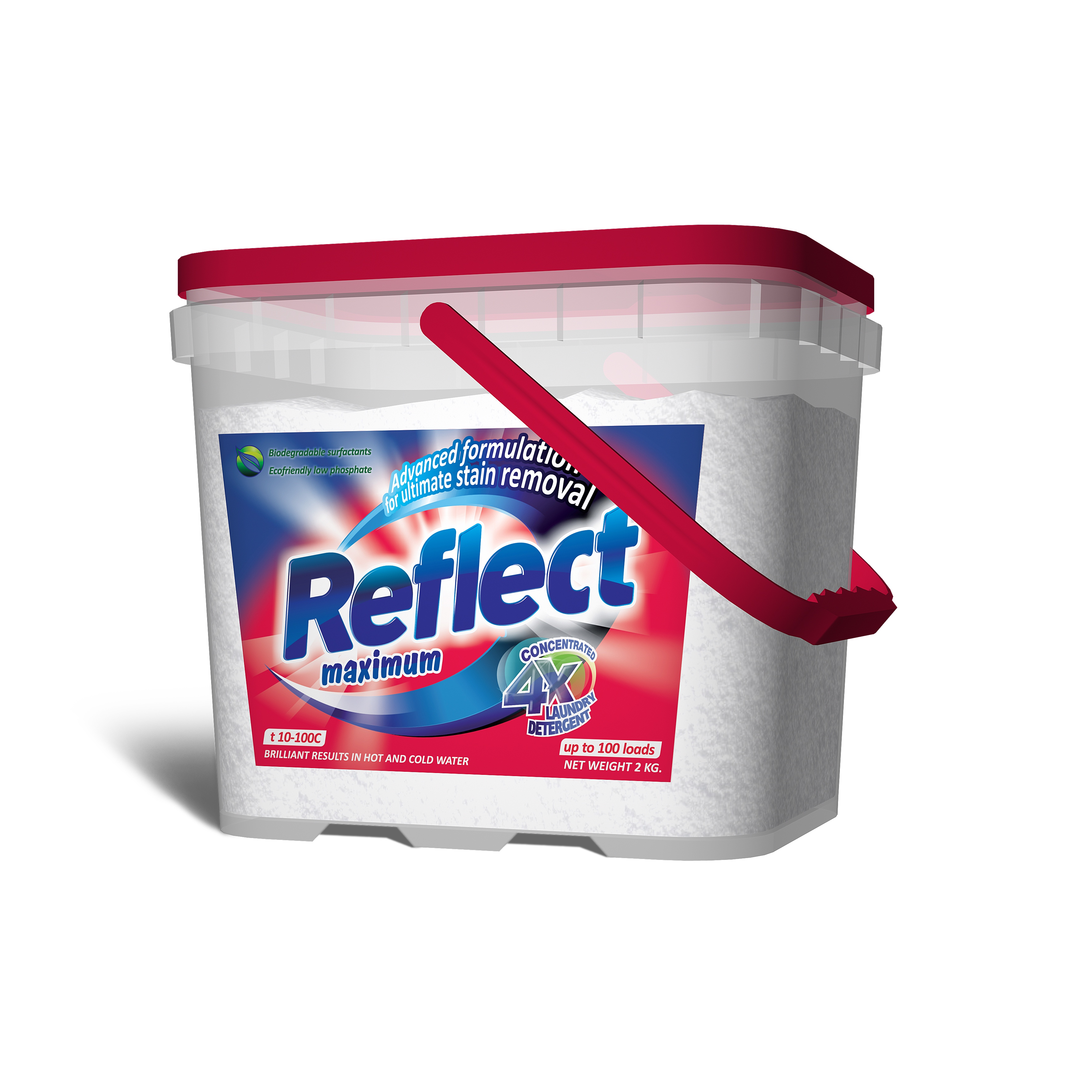 Концентрированный стиральный порошок Reflect Maximum 2 кг