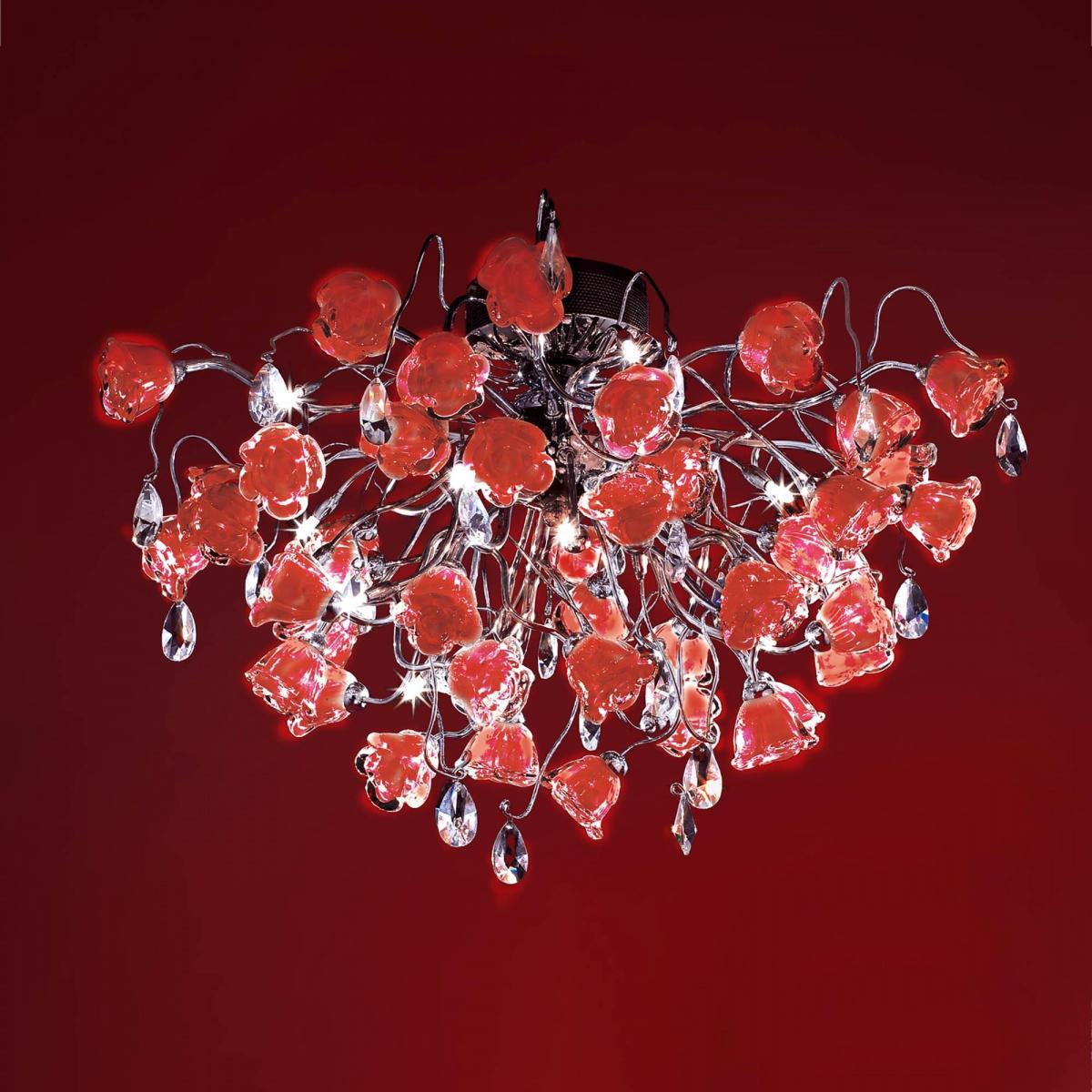 Люстра Eletto El325c15.2 rosa rosso