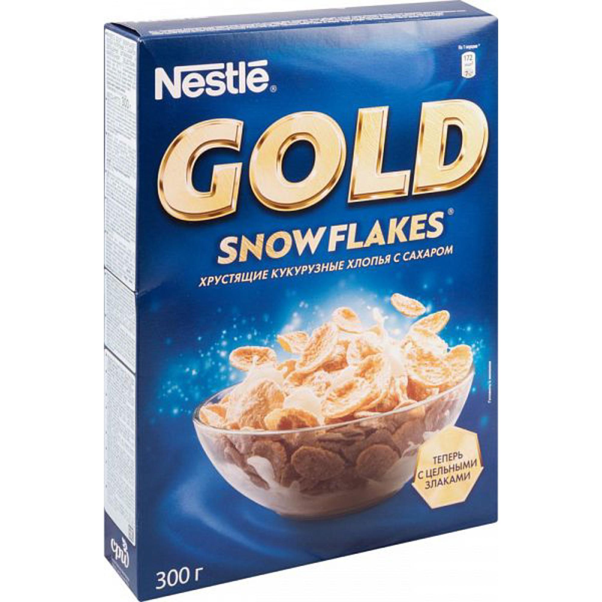 Хлопья кукурузные Nestle Gold Snow Flakes 300 г nestle gold snow flakes готовый завтрак 300 г