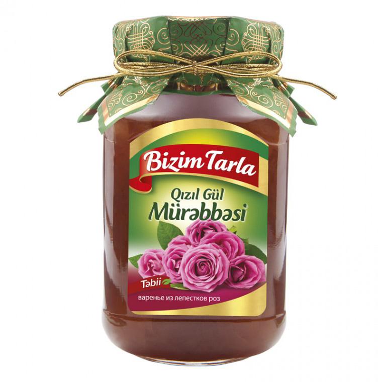Варенье Bizim Tarla из лепестков розы 400 г соленья из красных томатов bizim tarla 2 кг