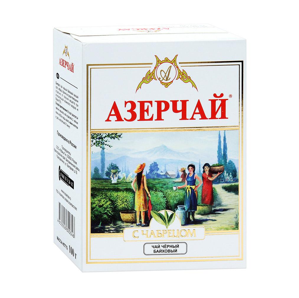 Чай Azercay черный байховый с чабрецом 100 г maharaja tea магури билл чай черный байховый 100 г
