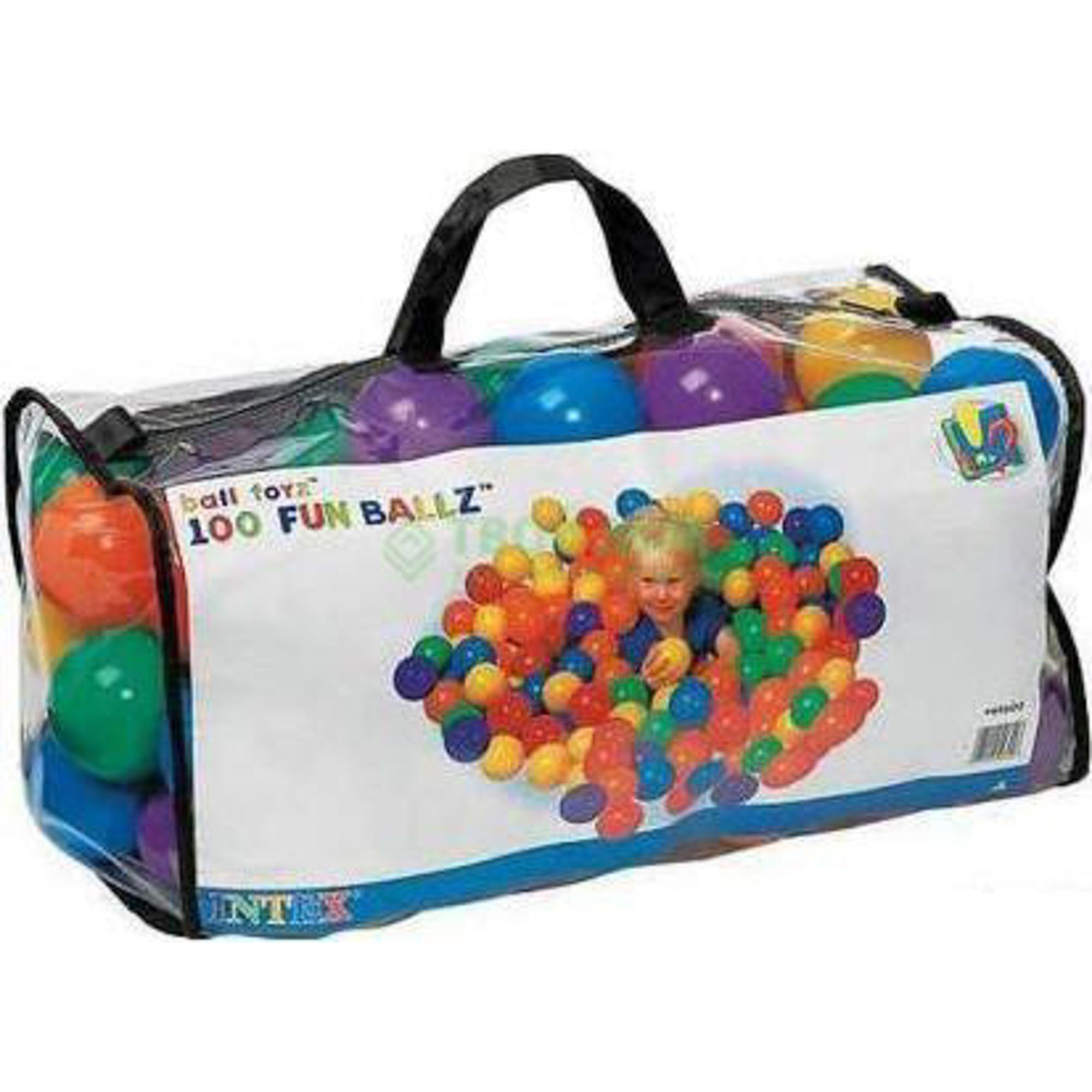 Игровой набор Intex Шарики для сухого бассейна 49600 набор для чистки бассейна intex 29057 от 549см сачок щетка вакуумная насадка
