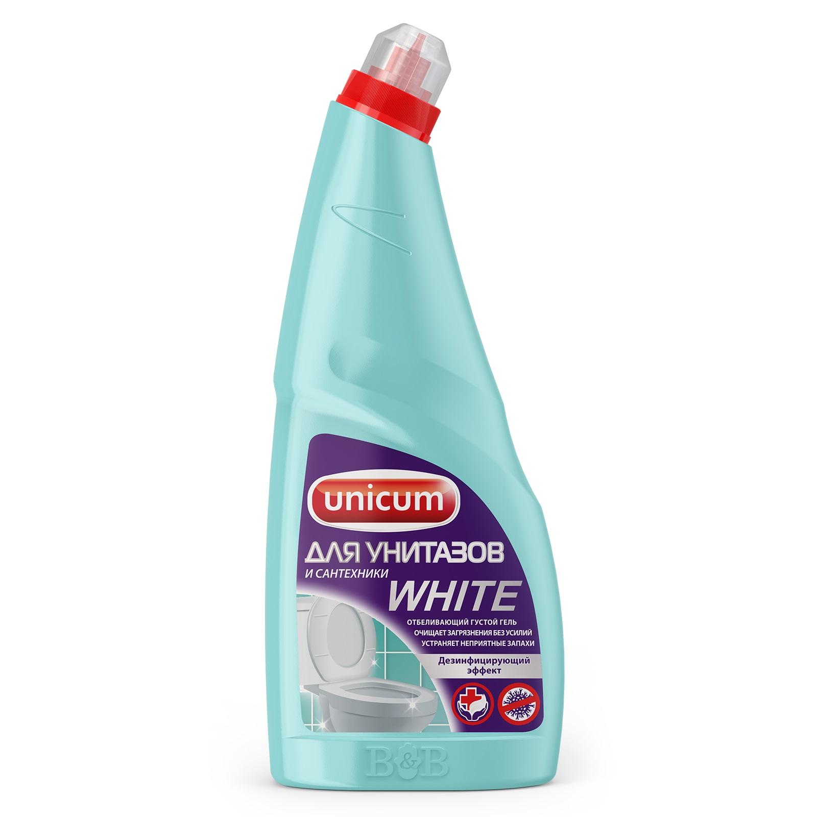 Фото - Гель Unicum для чистки унитазов с гипохлоритом 750 мл гель для чистки унитаза starwax respect 750 мл
