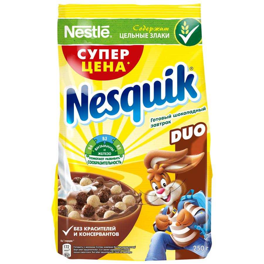 Готовый завтрак Nesquik Duo шоколадный 250 г.