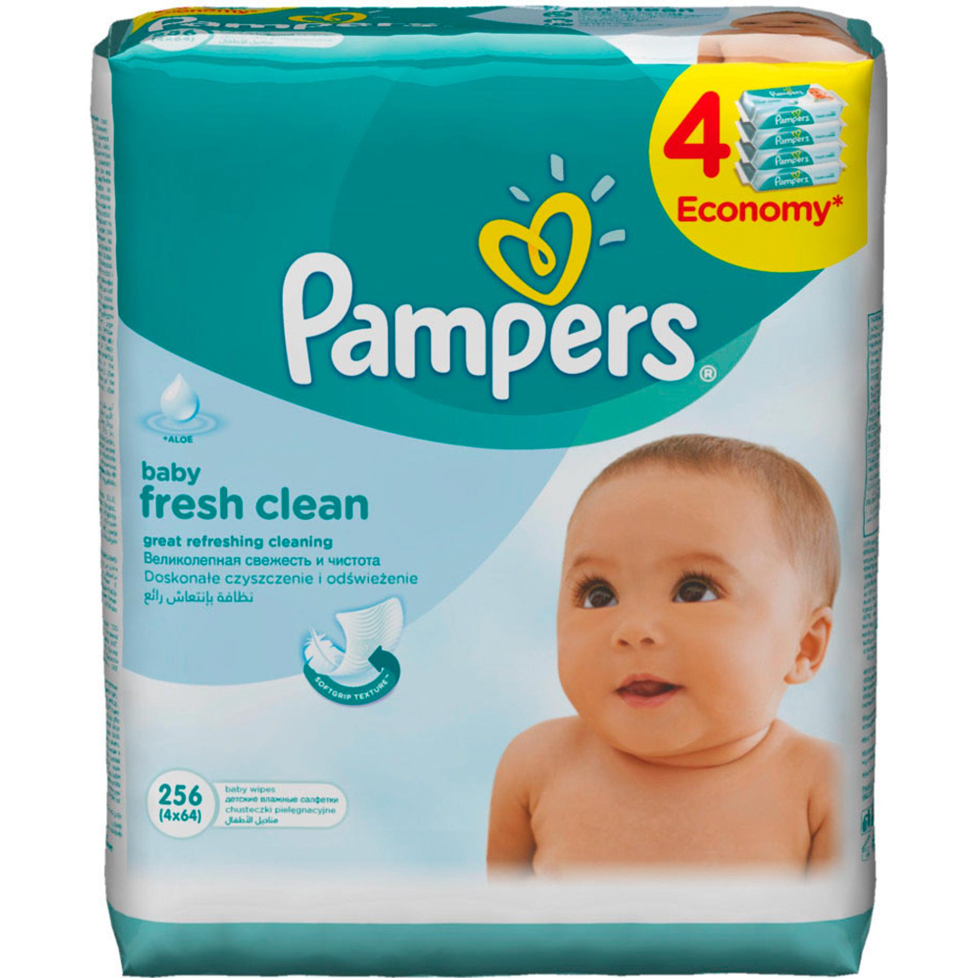 Фото - Салфетки влажные Pampers Fresh Clean 4x64 шт салфетки pampers детские влажные салфетки sensitive 104 шт