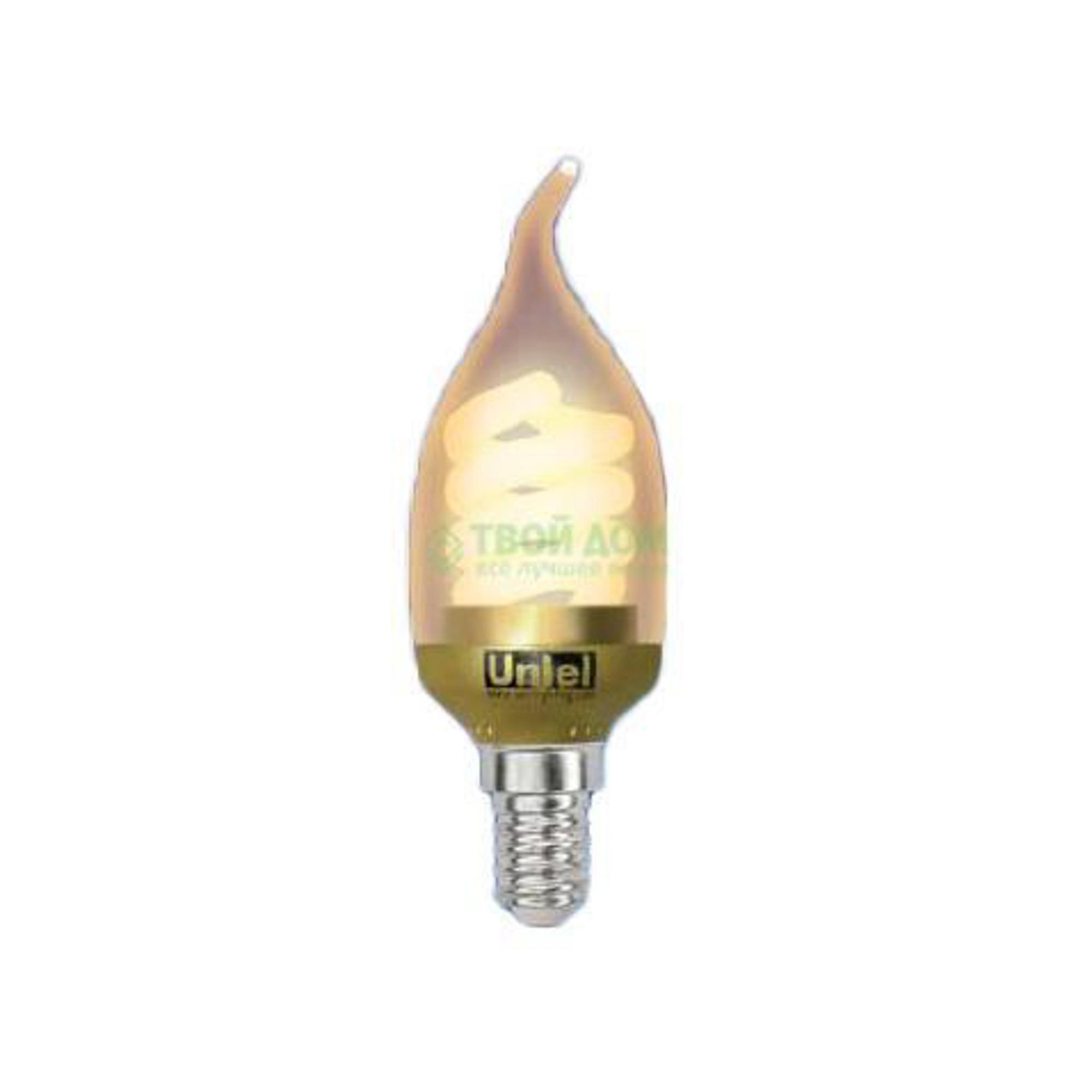 Лампочка UNIEL ESL-C21-W9/GOLD/E14