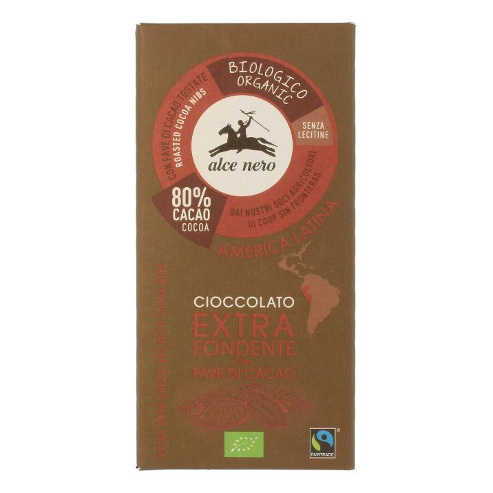 шоколад klaus горький 80% какао 100 г Шоколад Alce Nero горький с дроблеными зернами какао плиточный 100 г