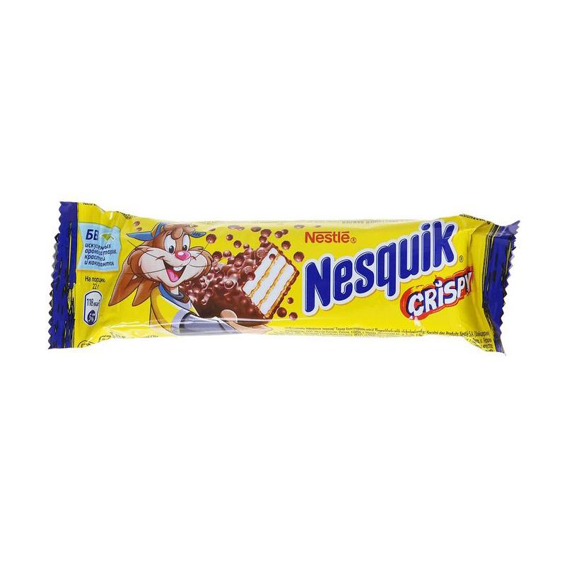Батончик вафельный Nesquik Crispy 22 г
