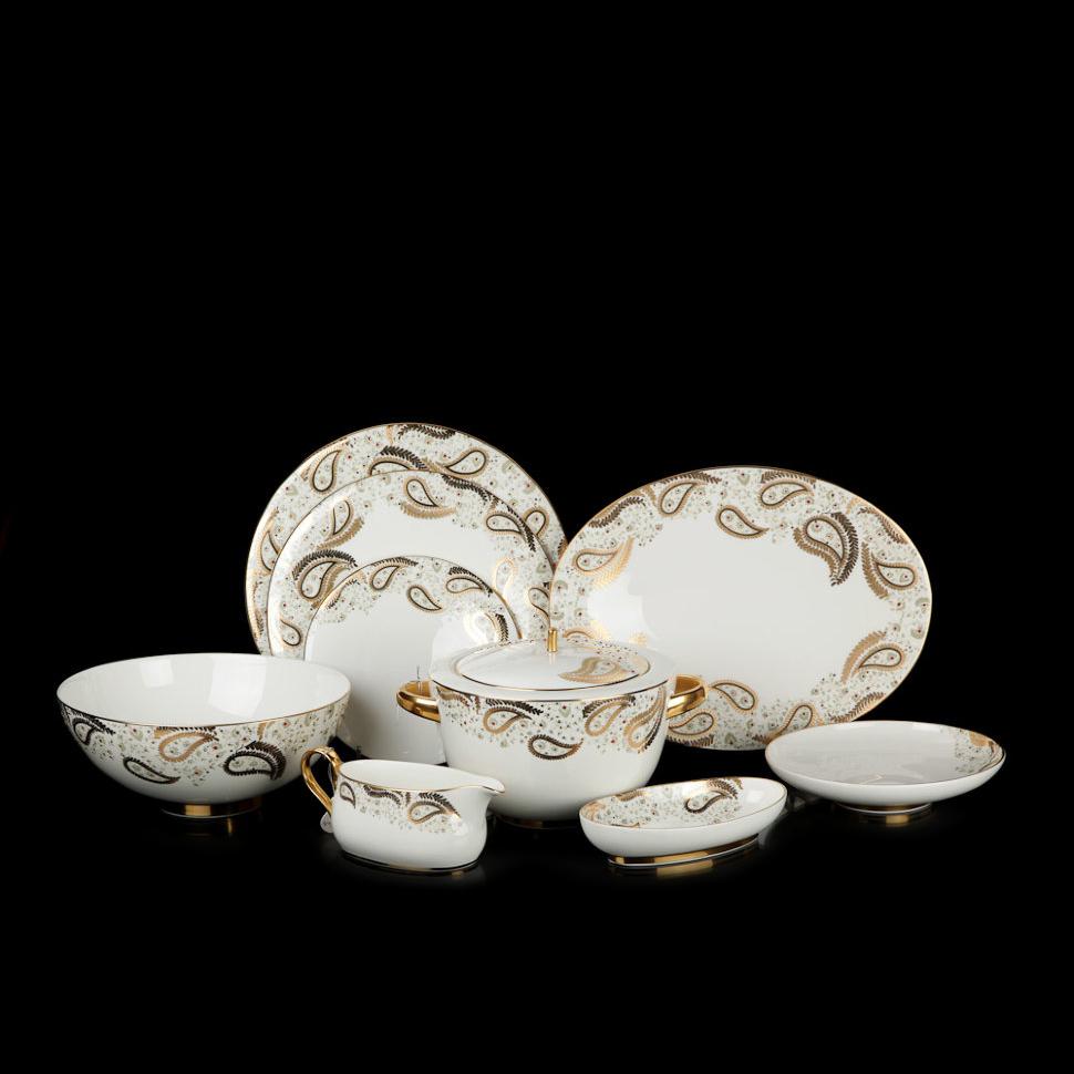 Фото - Столовый сервиз Hankook/Prouna Персия с кристаллами Swarovski 25 предметов чайный сервиз hankook prouna блэк палас с кристаллами swarovski 22 предмета