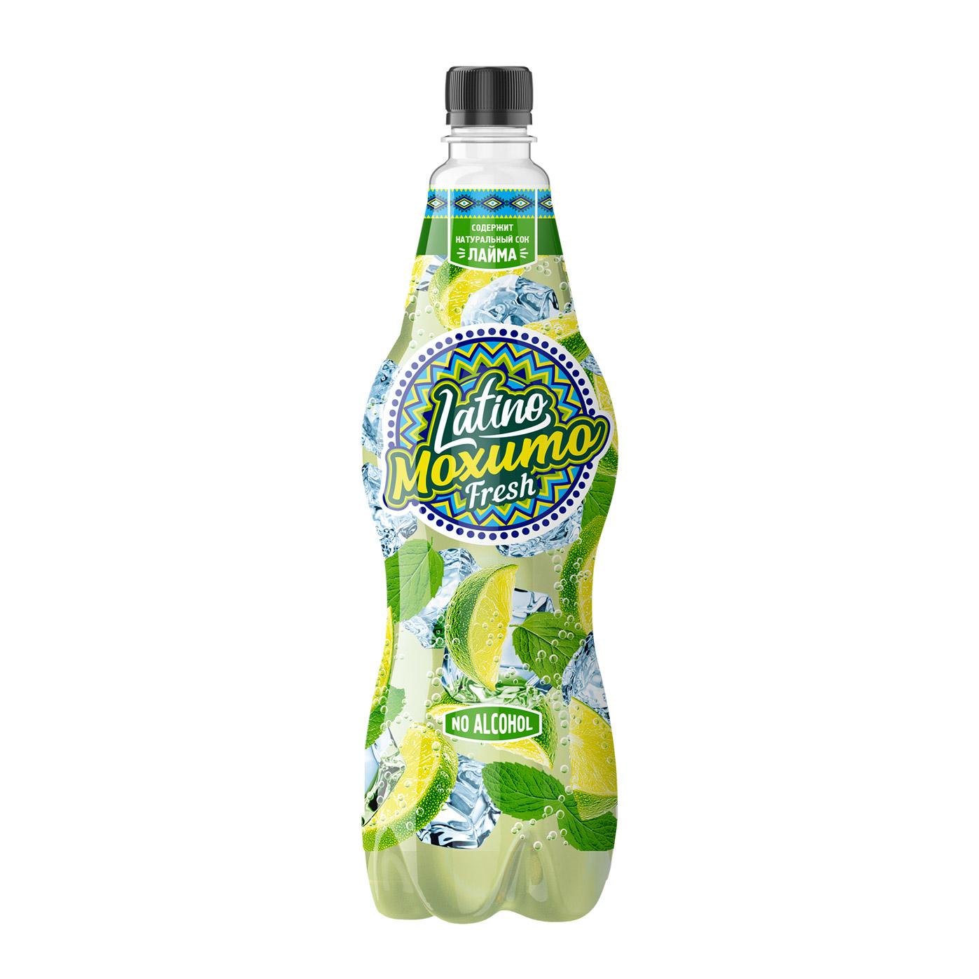 Напиток газированный Latino Мохито Fresh 1 л напиток газированный 7 up лайм и мята 1 5 л