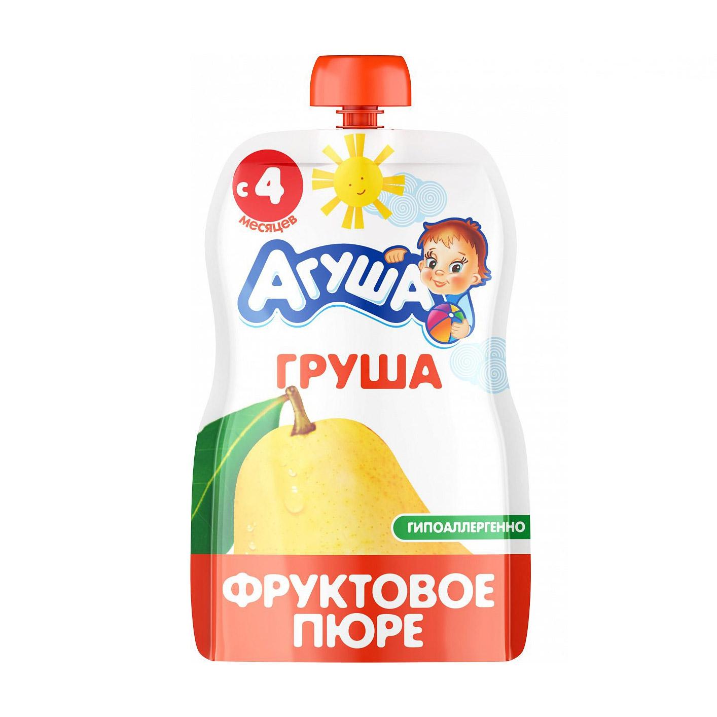 Фото - Пюре фруктовое Агуша Груша 90 г пюре фруктовое агуша груша 200 г