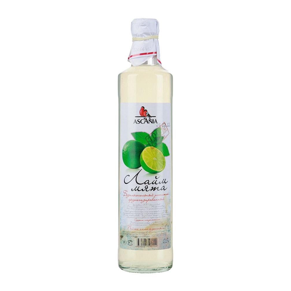 Напиток среднегазированный Ascania Лайм мята 0,5 л напиток газированный 7 up лайм и мята 1 5 л