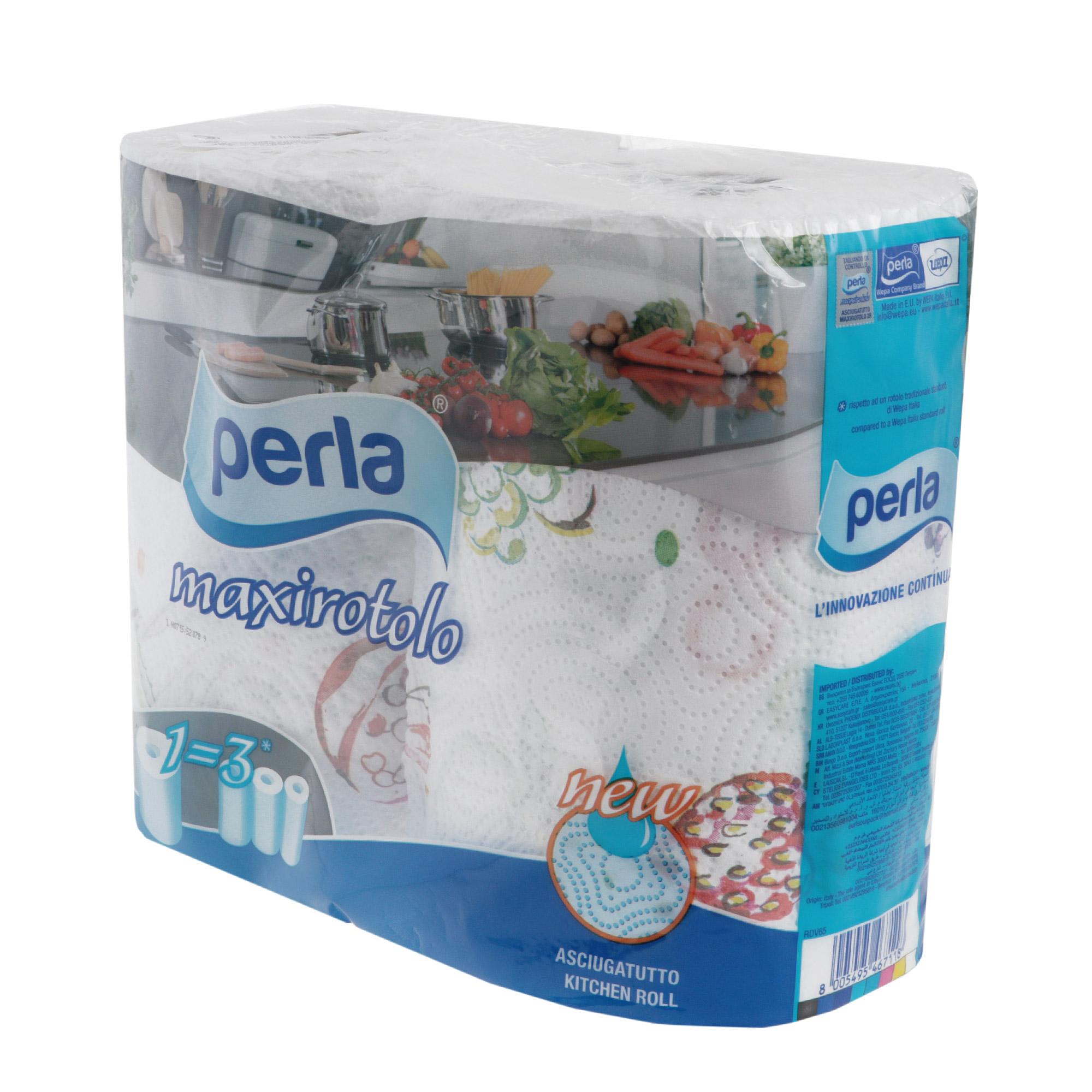 полотенца Полотенца бумажные Wepa lucca maxi decorat 2слоя 2рулона