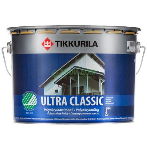 Краска Tikkurila Ultra Classic Полуматовая белая 2.7л.
