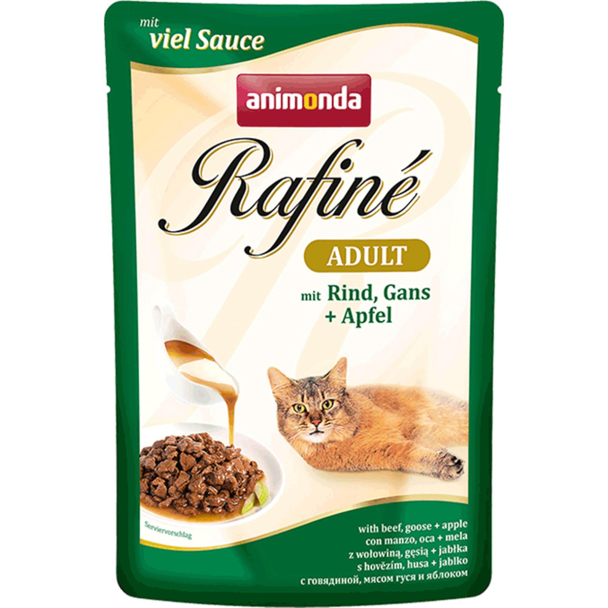 Корм для кошек ANIMONDA Rafine Soupe говядина, мясо гуся и яблоко 100г фото