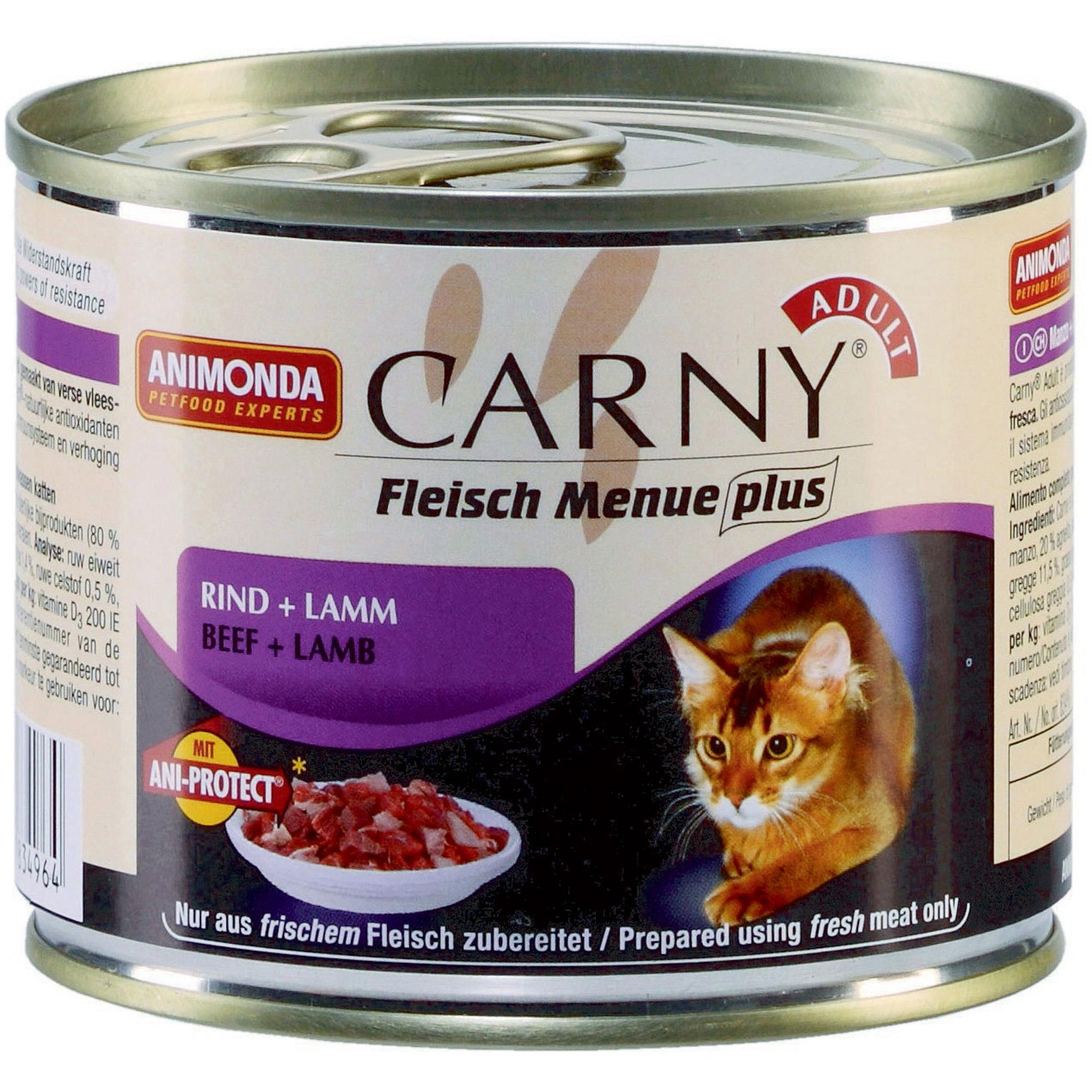 Корм для кошек ANIMONDA Carny говядина, ягненок 200г корм для кошек animonda carny говядина ягненок конс 200г