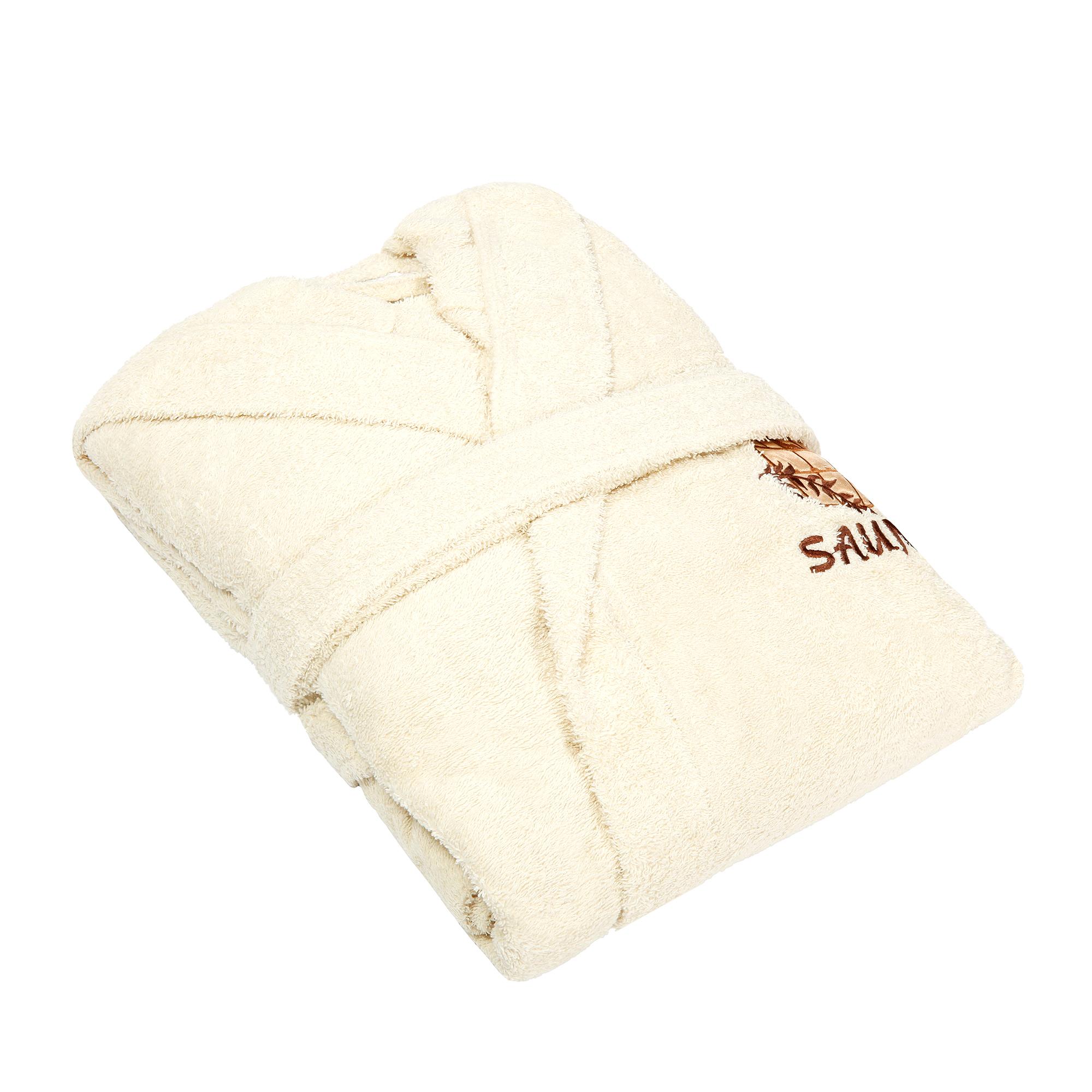 Фото - Халат женский Asil sauna beige m махровый с капюшоном халат махровый asil двухсторонний xxl темно синий