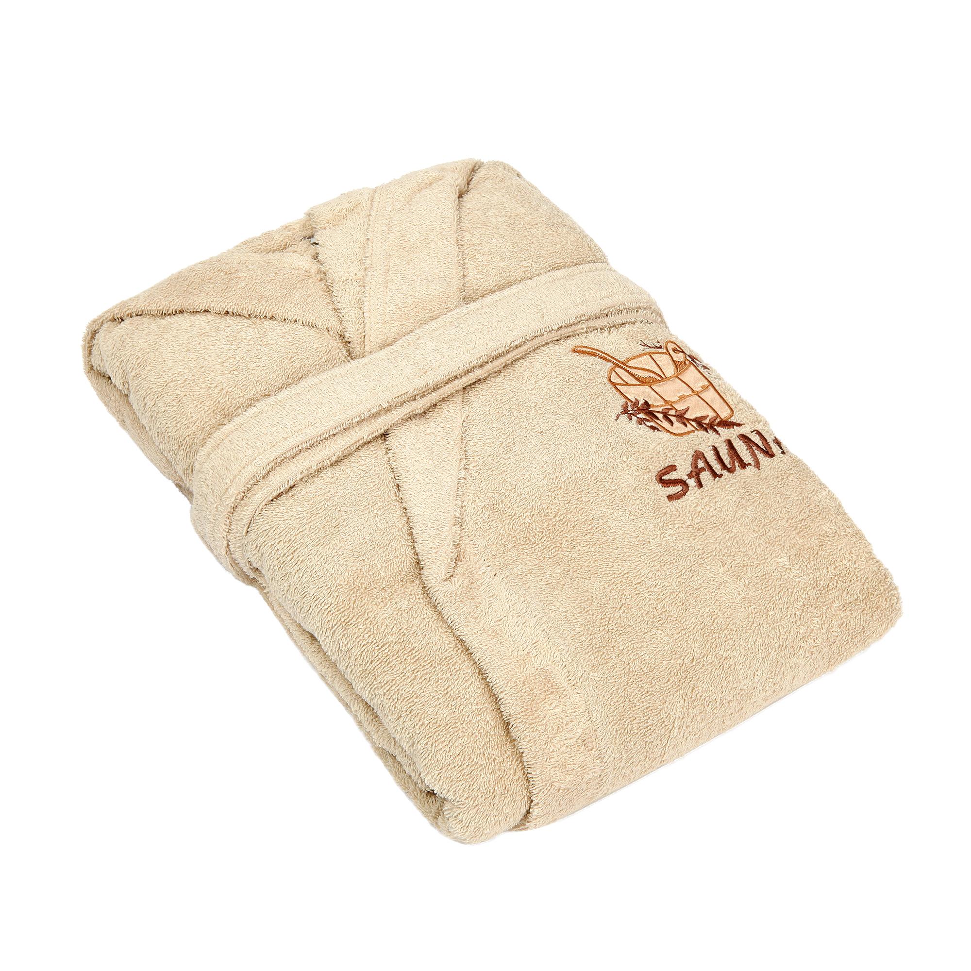 Фото - Халат мужской Asil sauna brown m махровый с капюшоном халат махровый asil двухсторонний xxl темно синий