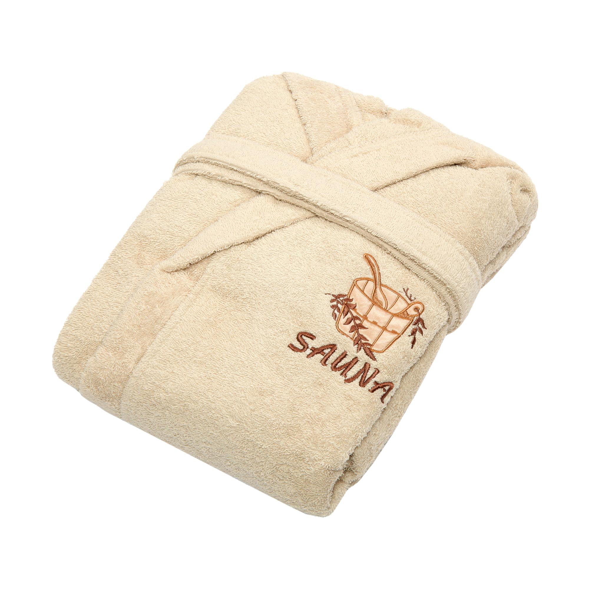 Халат мужской Asil sauna kimono brown m махровый.