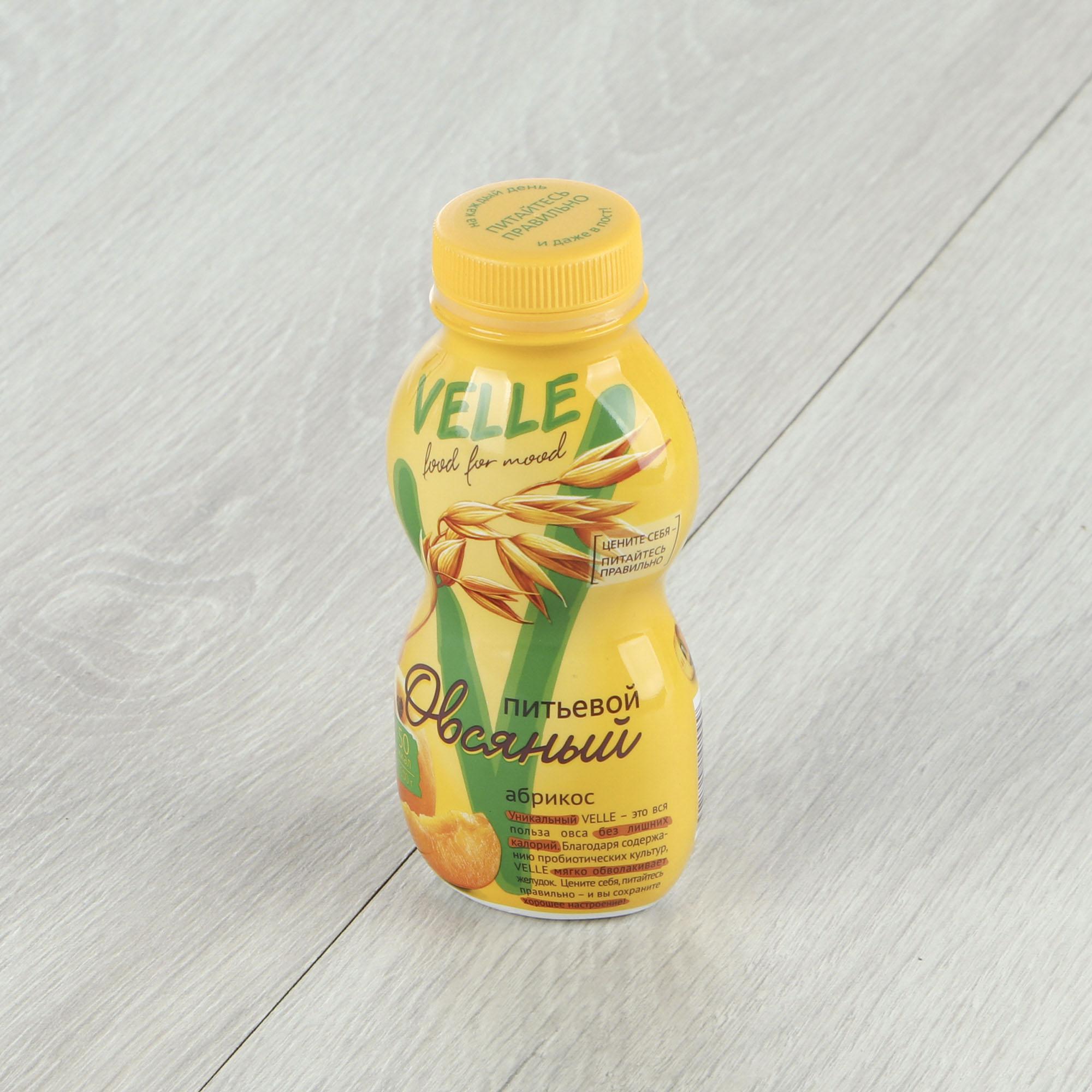 Напиток овсяный Velle Абрикос 250 г овсяный напиток ne moloko ванильный десерт 250мл