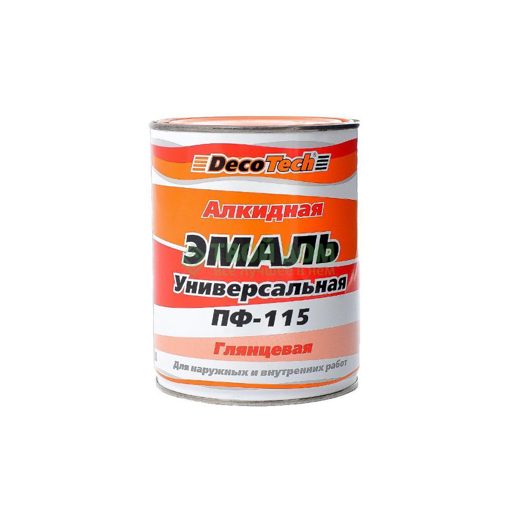 Эмаль Decotech ПФ-115 гл. черная 1л