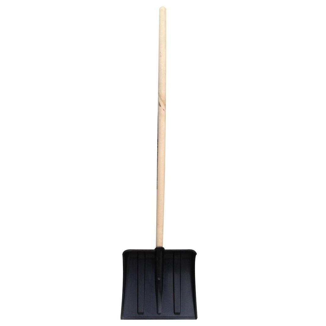 Лопата для снега Снежок Лопата пластмассовая с черенком