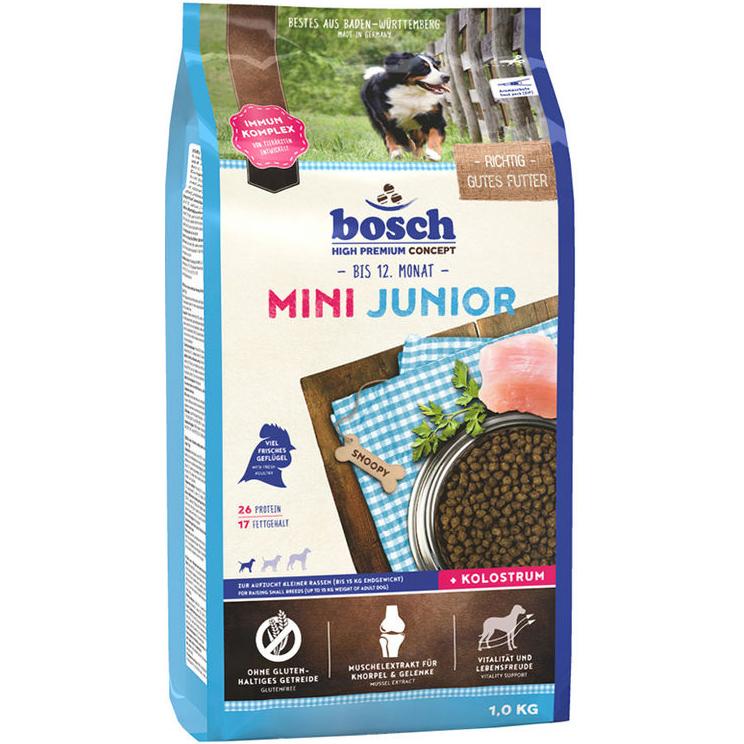 Корм для щенков Bosch Mini Junior мелких пород 1 кг