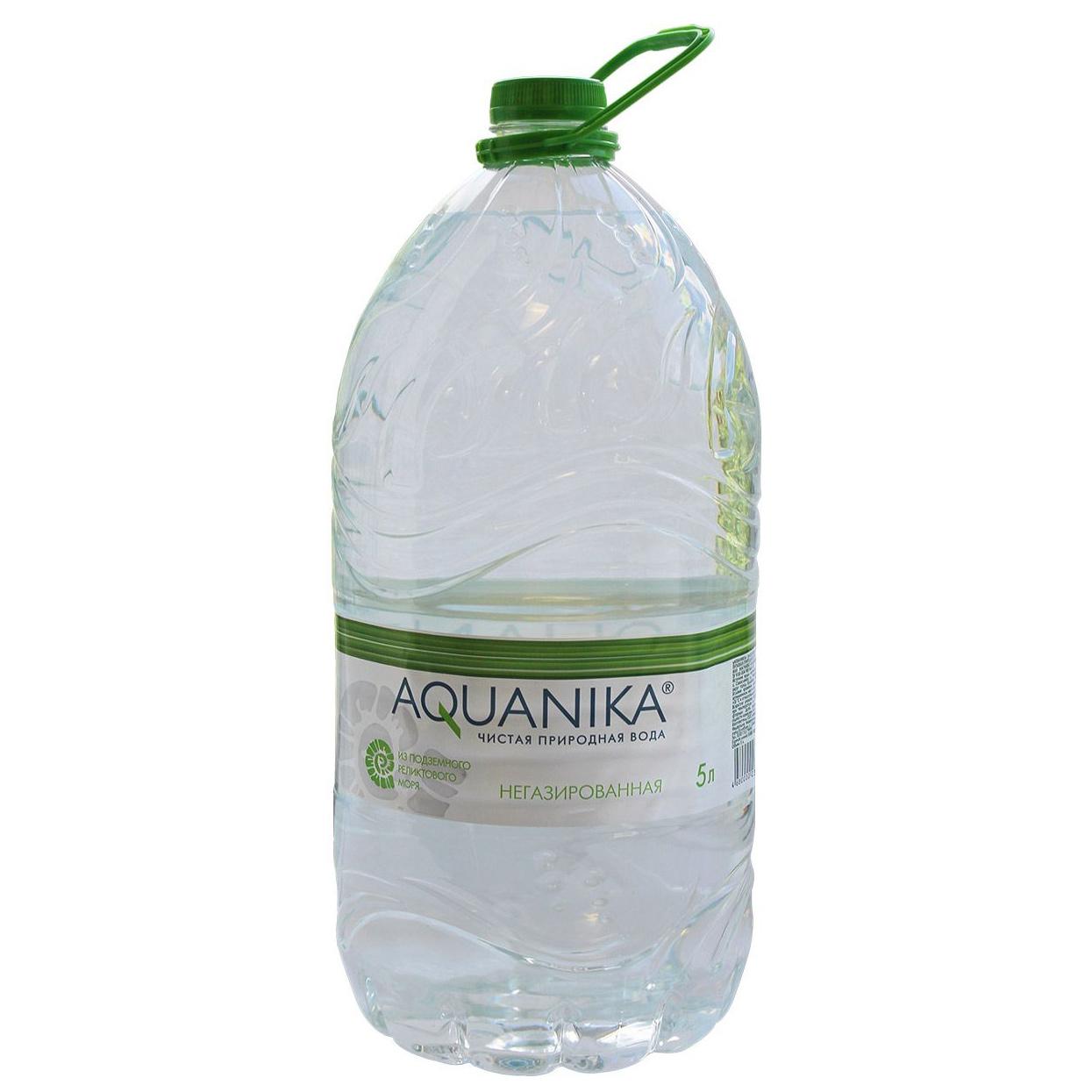 Фото - Вода Акваника негазированная 5 л морс акваника из клюквы малины и земляники 6 шт по 1 л