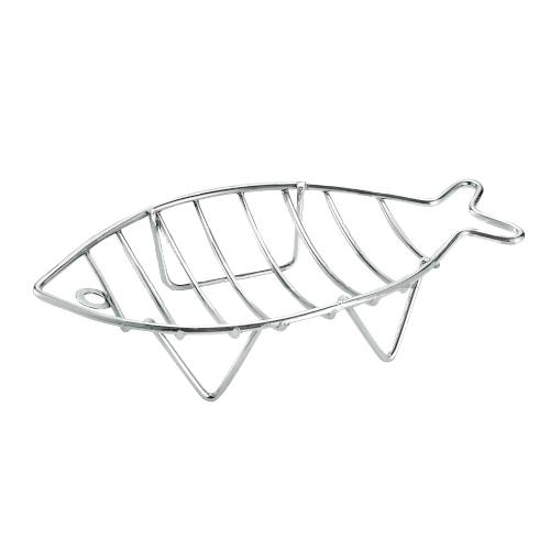 Мыльница FORA настольная металлическая К4 (рыбка).