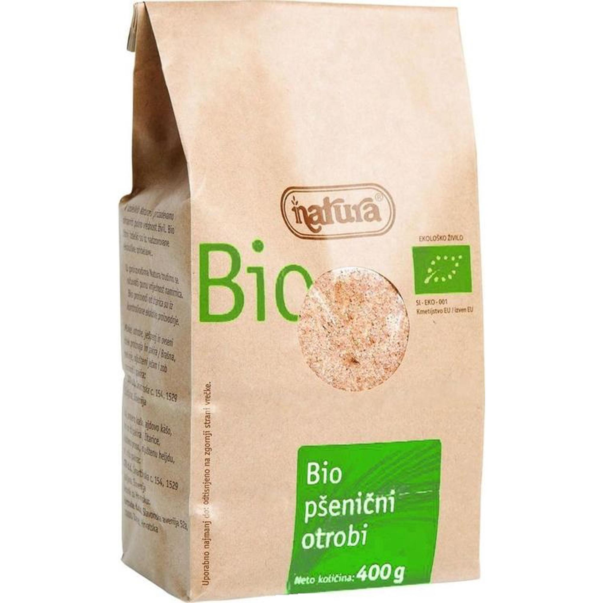 Отруби Natura Bio пшеничные органические 400 г