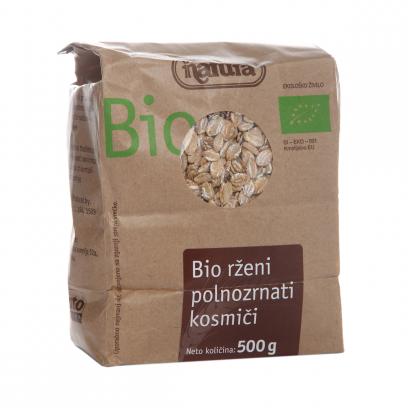 Хлопья Natura Bio ржаные цельнозерновые органические 500 г