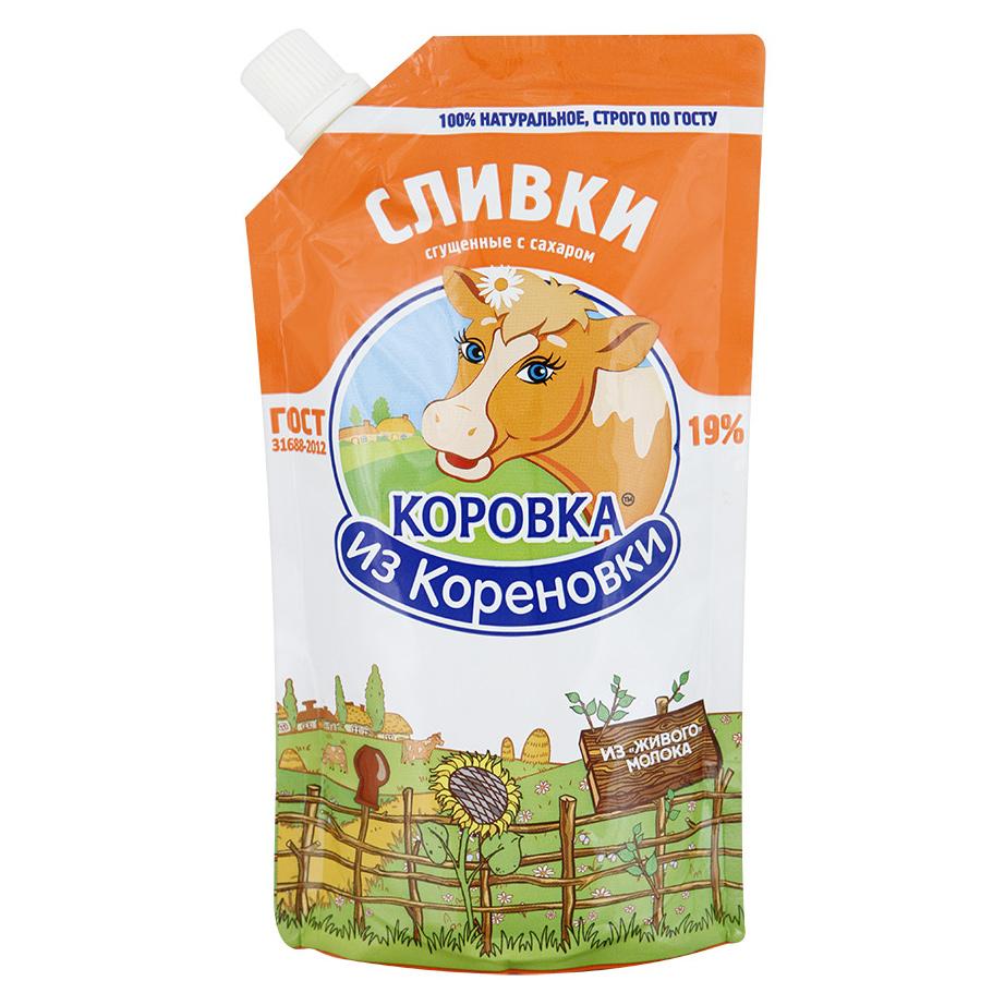 Сливки Коровка из Кореновки сгущенные с сахаром 19% 270 г фото