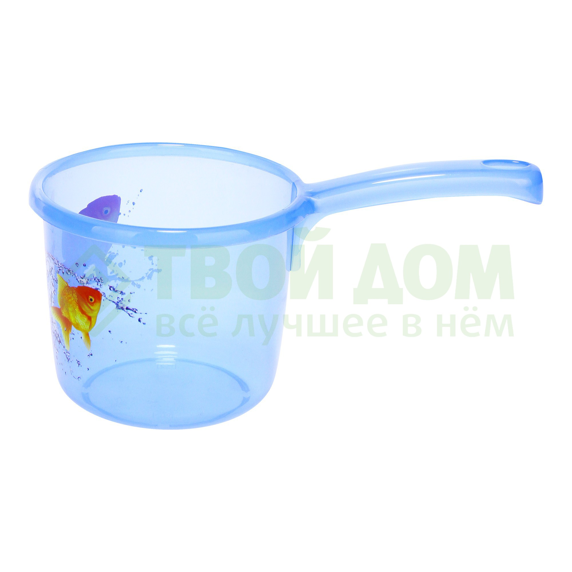 Купить Ковш Phibo 4312849 1.3 л, Россия, голубой, полипропилен, Аксессуары для ванны и туалета