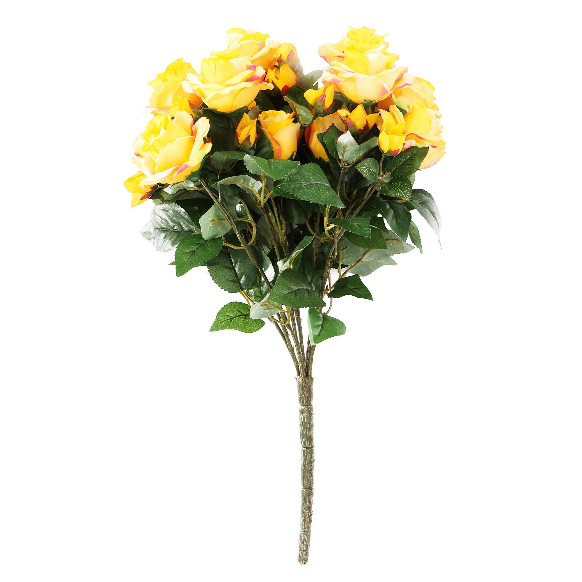 Композиция Dpi розы в букете 57cm красно-желтая