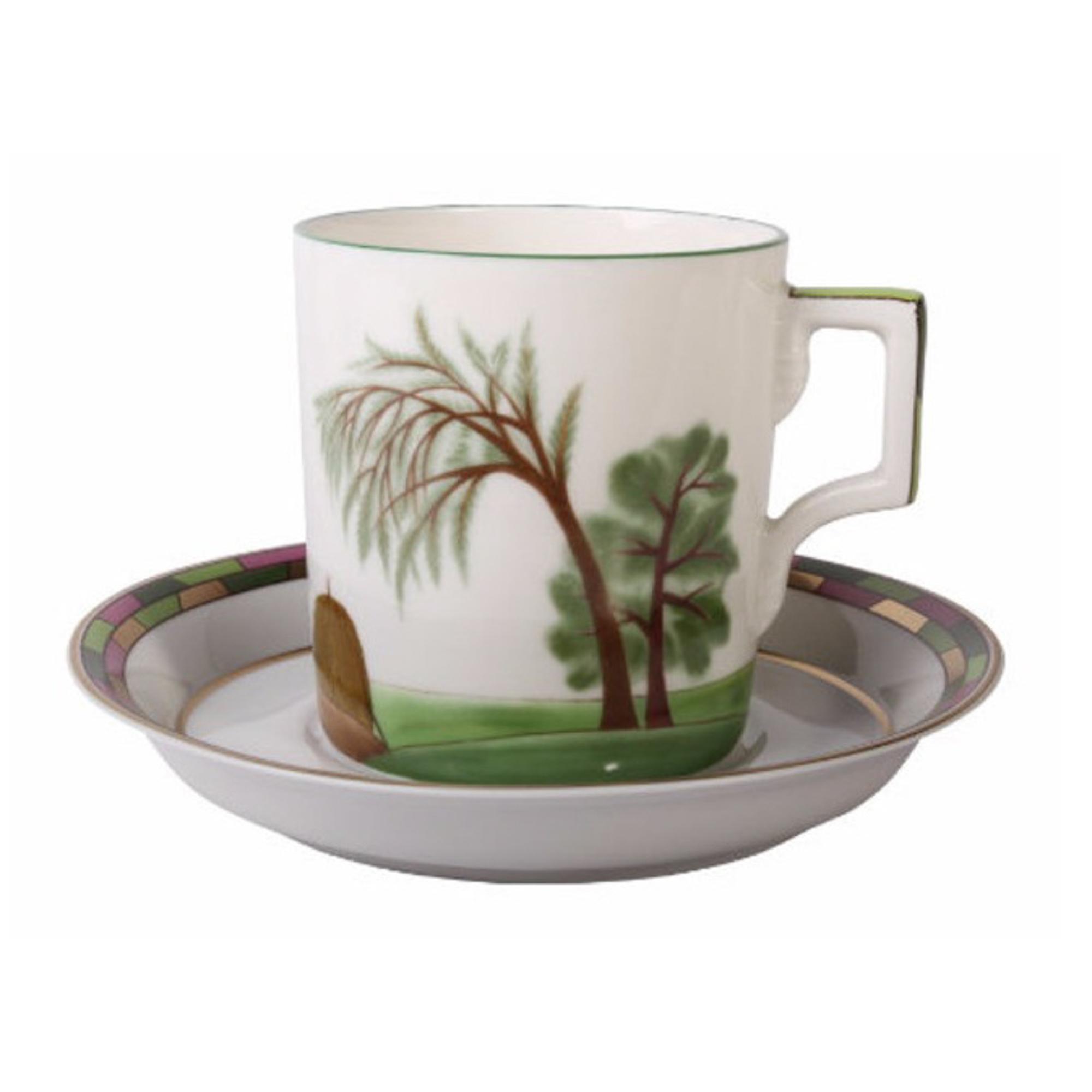 Чашка с блюдцем чайная Гербовая лето Ифз
