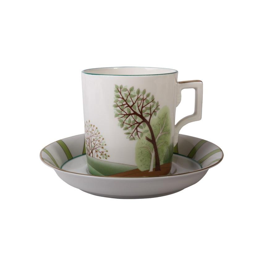 Чашка с блюдцем чайная Гербовая весна Ифз