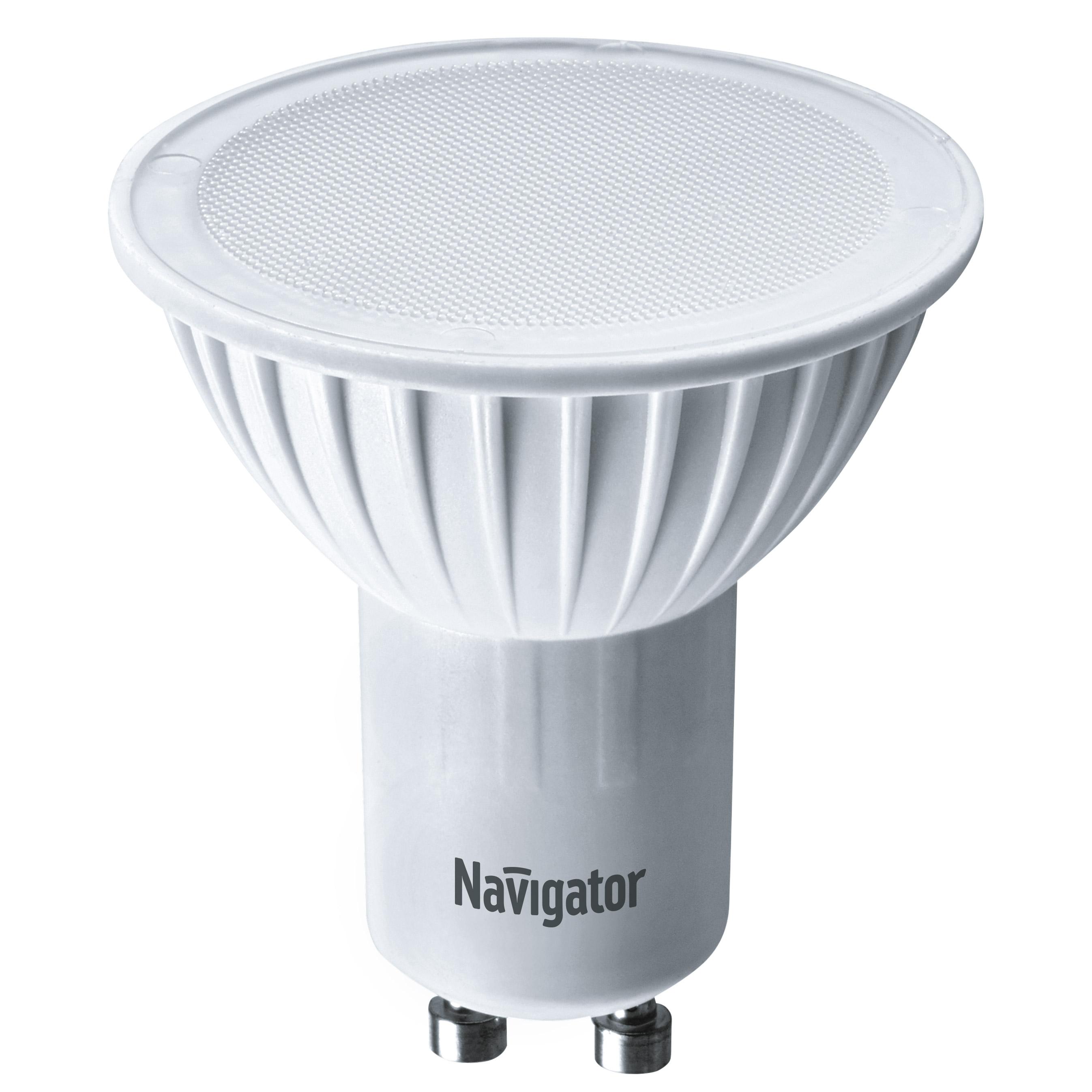 Фото - Лампа светодиодная Navigator PAR16 5Вт цоколь GU10 (холодный свет) лампа люминесцентная navigator t5 6вт цоколь g5 холодный свет
