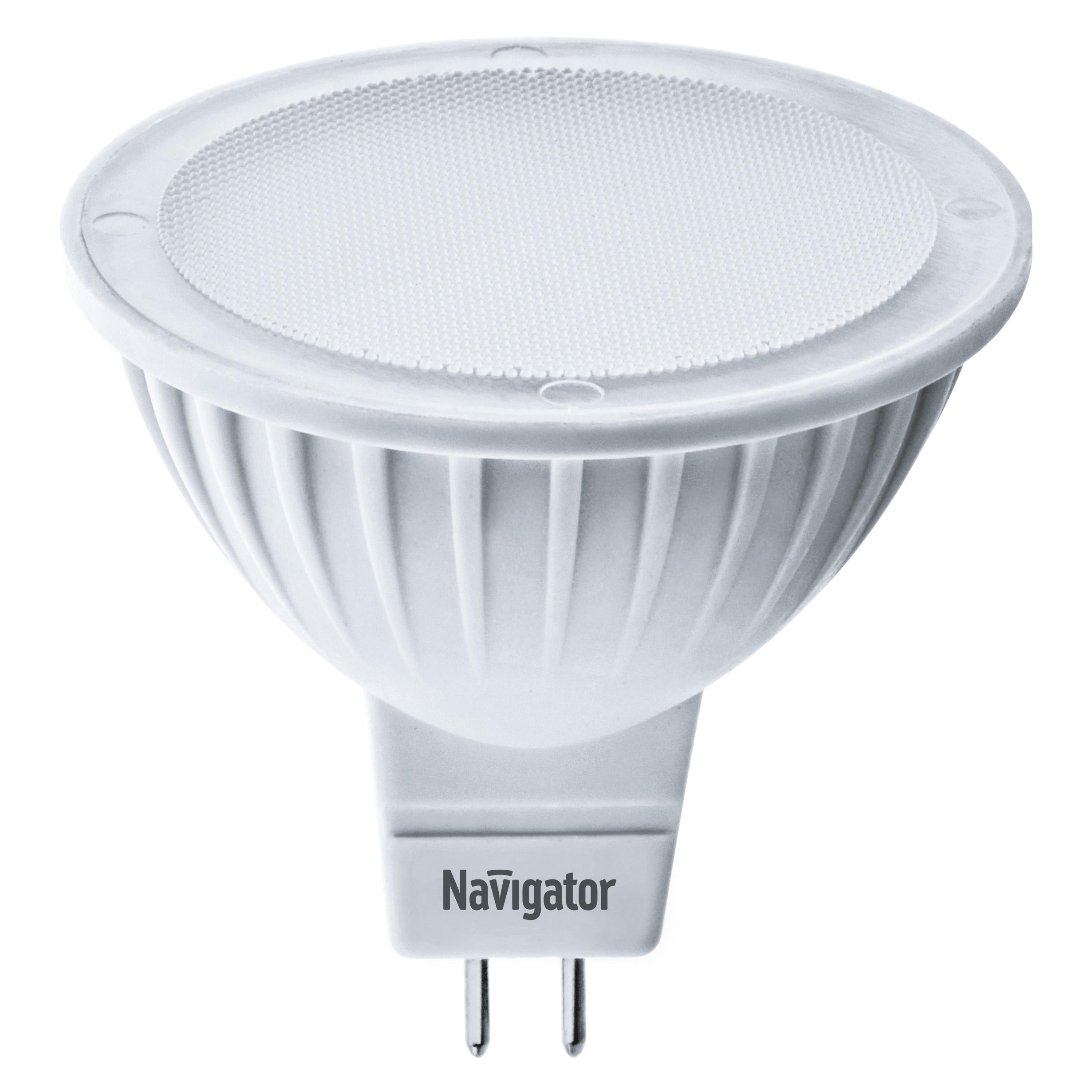 Фото - Лампа светодиодная Navigator MR16 5Вт 230В цоколь GU5.3 (холодный свет) лампа люминесцентная navigator t5 6вт цоколь g5 холодный свет