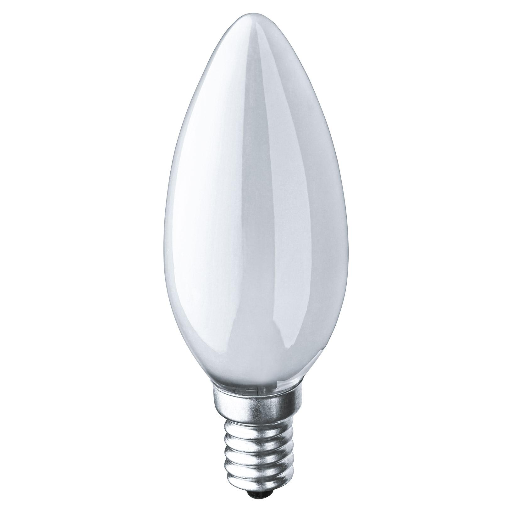 Лампа накаливания Navigator свеча матовая 60Вт цоколь E14