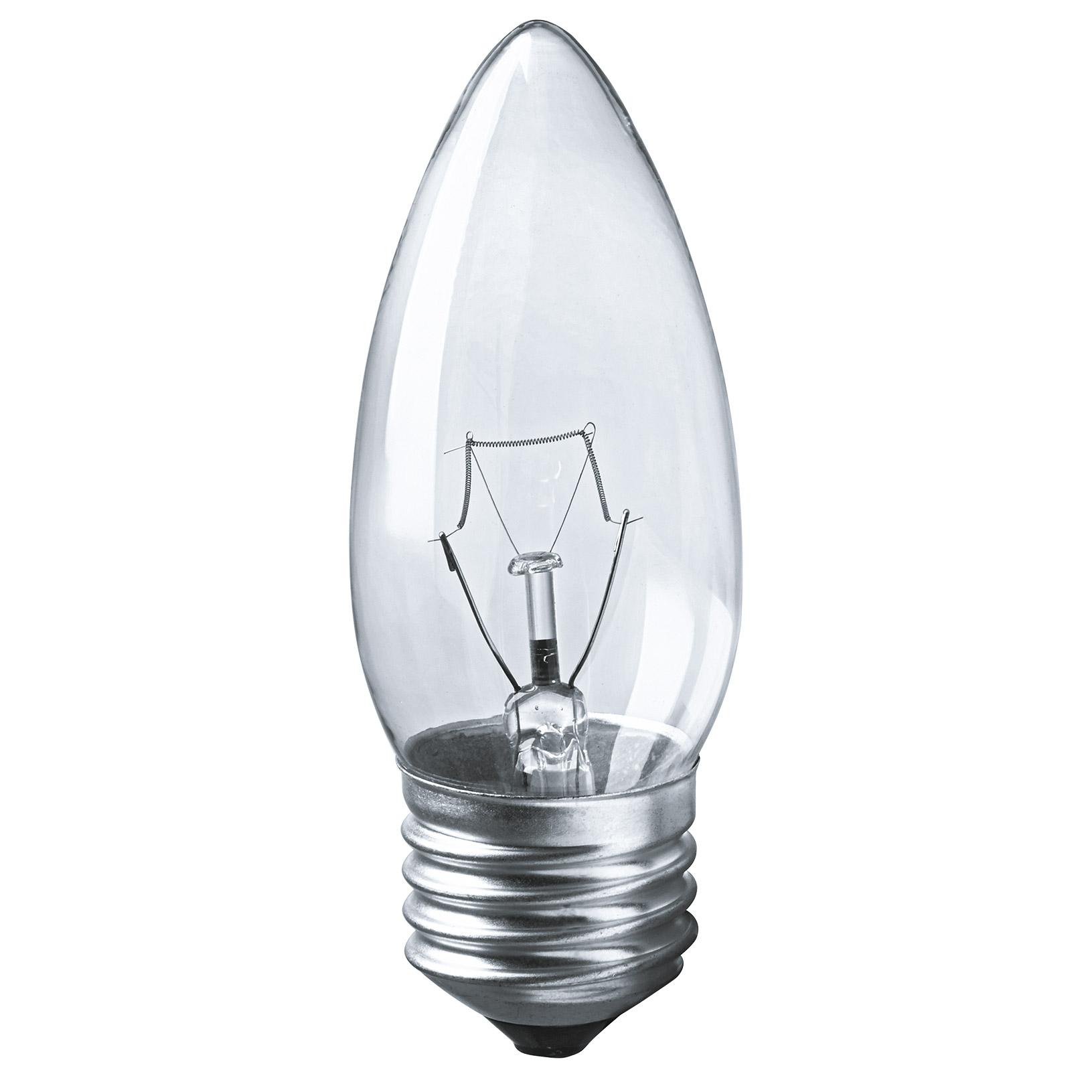 Лампа накаливания Navigator свеча прозрачная 40Вт цоколь E27